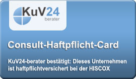 KuV24-berater - Berater-Haftpflicht-Card - Click here to validate this insurance.